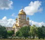 Romanian Orthodox Cathedral, Fagaras, Brasov county, Transylvania, Romania. Romanian orthodox cathedral in Fagaras, Brasov county, Transylvania, Romania stock image