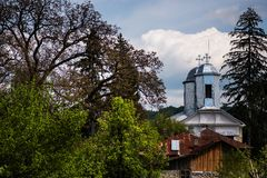 Romanian Orthodox church in a small village Stock Images