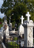 Romanian Orthodox Graveyard Royalty Free Stock Images