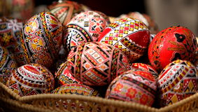Romanian painted Easter eggs royalty free stock photo