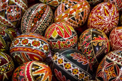 Romanian painted Easter eggs Stock Photo