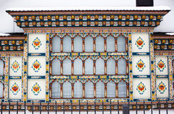 Romanian painted house. Painted house facades from Busteni, Romania Royalty Free Stock Image