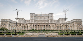 Romanian Palace of Parliament in Bucharest Royalty Free Stock Images