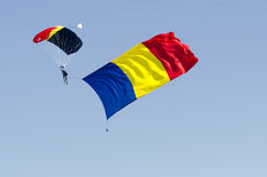 Romanian parachute jumper Stock Photography