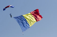 Romanian parachute jumper Stock Photos