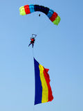 Romanian parachutist Royalty Free Stock Photography