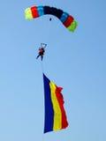 Romanian parachutist Royalty Free Stock Photography