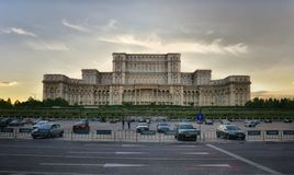 Romanian Parliament  from Bucharest Stock Photo