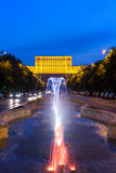 Romanian Parliament in Bucharest Royalty Free Stock Photography