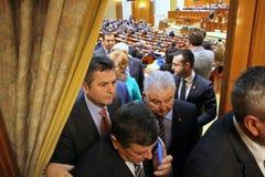 Romanian Parliament - President speech - Politics. Royalty Free Stock Photos