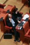 Romanian Parliamentary session Royalty Free Stock Photos
