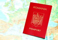 Romanian passport Stock Image
