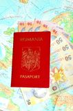 Romanian passport Royalty Free Stock Photo