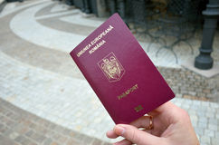 Romanian Biometric passport Royalty Free Stock Image