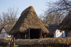 Romanian peasant house in Village Museum, Bucharest Royalty Free Stock Image