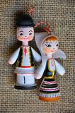 Romanian people. Dolls as Romanian people with the national costumes of Romania royalty free stock photography