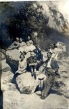 Romanian People in the Carpathians 1924 Man and Women Royalty Free Stock Photo