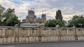 Romanian People`s Under Construction Salvation Cathedral royalty free stock image