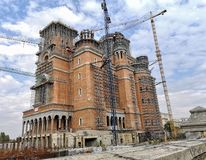 Romanian People`s Under Construction Salvation Cathedral stock photography