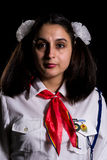 Romanian pioneer girl Stock Photo