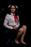 Romanian pioneer girl Royalty Free Stock Photo
