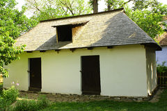 Romanian plastered vernacular house Stock Images