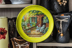 Romanian plate Stock Images