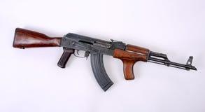 AK47 Romanian Kalashnikov. The Romanian PM63 version of the Russian AKM (Avtomat Kalashnikova Modernizirovanniy - automatic rifle Kalashnikov modernized). The Stock Photos