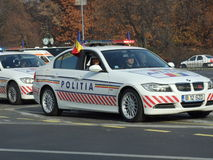 Romanian police car Royalty Free Stock Photos