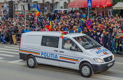 Romanian Police Car Royalty Free Stock Photography