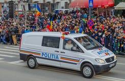 Romanian Police Car Royalty Free Stock Photography