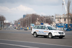 Romanian police car Royalty Free Stock Photo