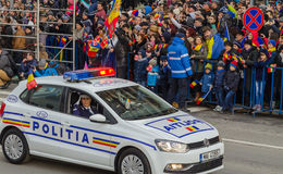 Romanian Police Car Royalty Free Stock Images