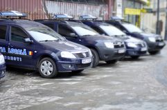 Romanian police cars Stock Image