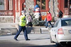 Romanian police man Stock Image