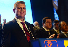 Romanian politician Klaus Iohannis Stock Photography