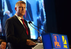 Romanian politician Klaus Iohannis Royalty Free Stock Images
