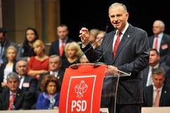 Romanian politician Mircea Geoana body language during speech Stock Image