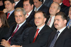 Romanian politicians Stock Images