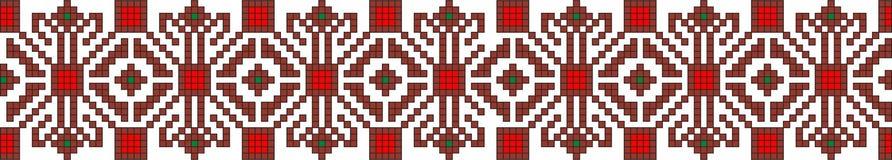 Romanian popular pattern Stock Images