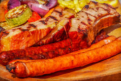 Romanian pork meat grilled Royalty Free Stock Images