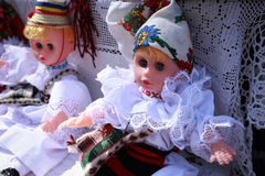 Romanian port dolls Royalty Free Stock Photography