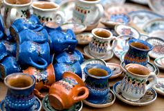 Romanian pottery Royalty Free Stock Images