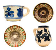 Romanian Pottery. Pottery with traditional Romanian motifs Royalty Free Stock Photos