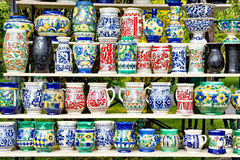 Romanian pottery for sale Royalty Free Stock Photography