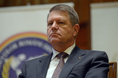 Romanian President Klaus Iohannis Royalty Free Stock Images