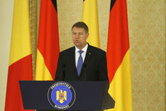 Romanian President Klaus Iohannis Stock Images