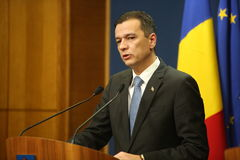 Romanian Prime Minister Sorin Grindeanu Royalty Free Stock Photo