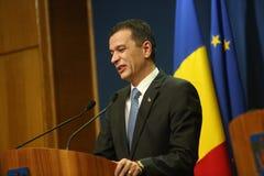 Romanian Prime Minister Sorin Grindeanu Stock Photo