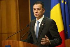 Romanian Prime Minister Sorin Grindeanu Stock Images